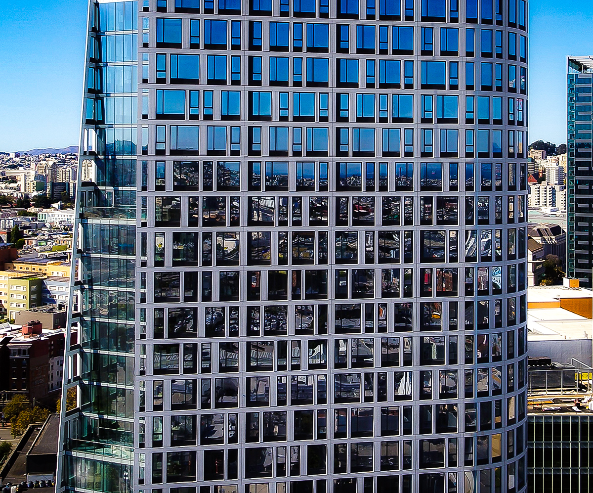 Aerial Panoramic Photo of a new Mission Street building in San Francisco